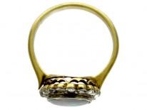 Harlequin Black Opal Diamond Ring