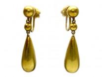 Victorian Drop Lozenge Shape Earrings