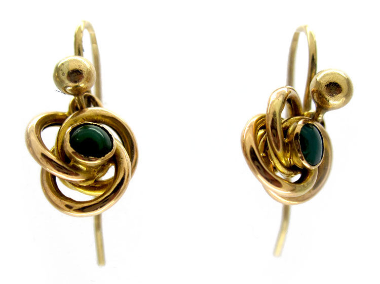 Turquoise 9ct Coil Earrings