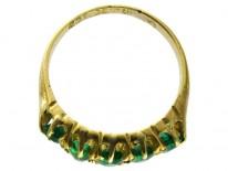 Emerald Five Stone Ring