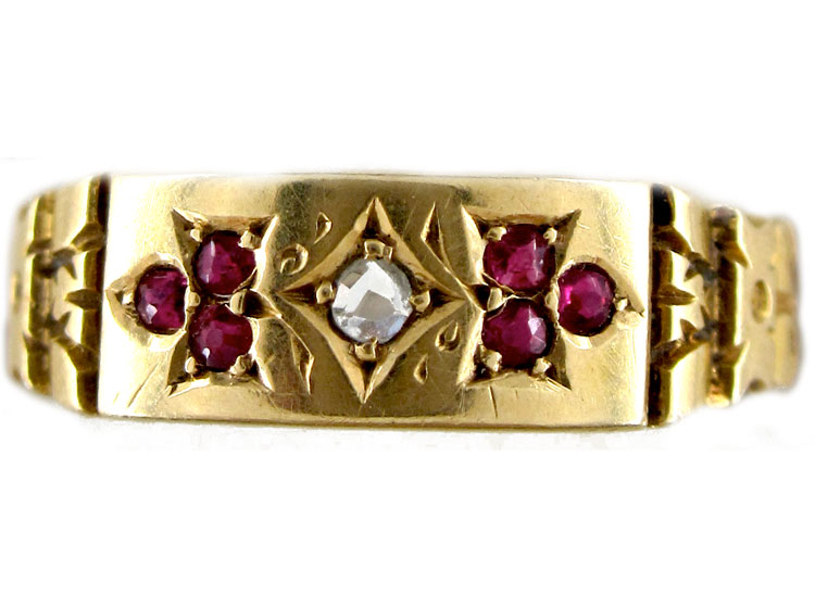 Ruby Diamond Gypsy Ring