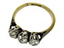 Victorian Diamond Three Stone Ring