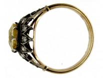 Yellow Sapphire Diamond Ring