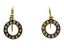 Pearl 15ct Gold Drop Earrings