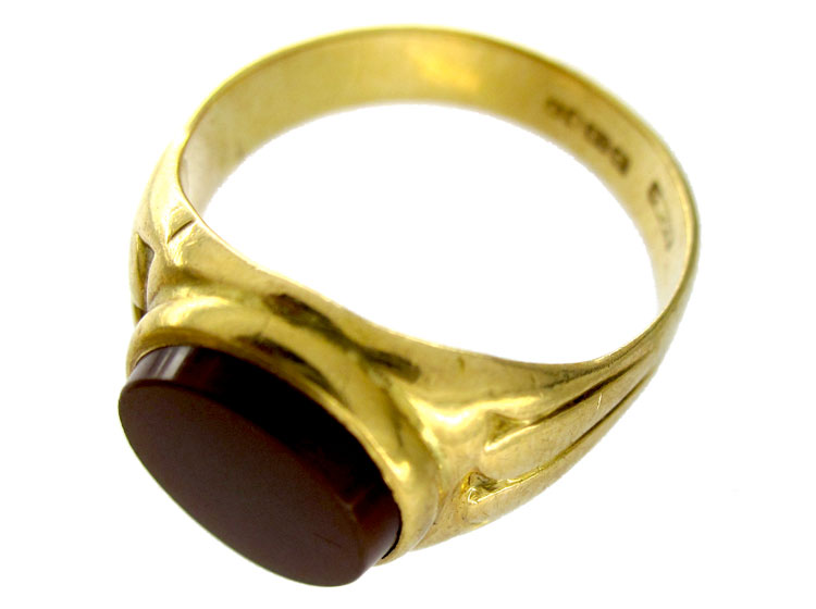 Carnelian 18ct Signet Ring