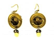 Garnet 15ct Drop Earrings