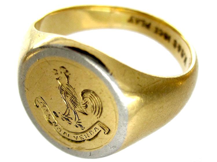 Platinum & 18ct Signet Ring