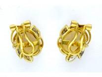 Opal Diamond Earrings