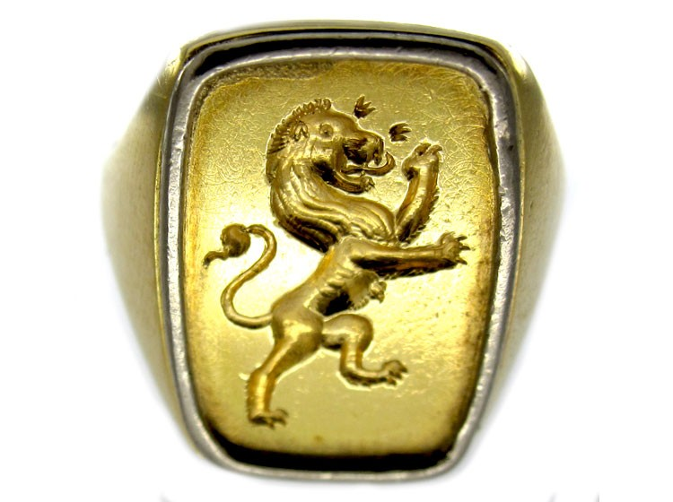 Signet Ring with Rampant Lion