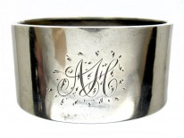 Silver Fern Engraved Bangle