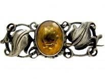 Theodor Fahrner Citrine Silver Brooch