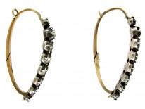 Rose-Cut Diamond Georgian Earrings
