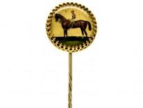Racehorse & Jockey Reverse Intaglio Tie Pin