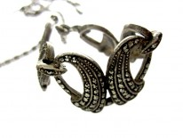 Silver Marcasite Swag Necklace