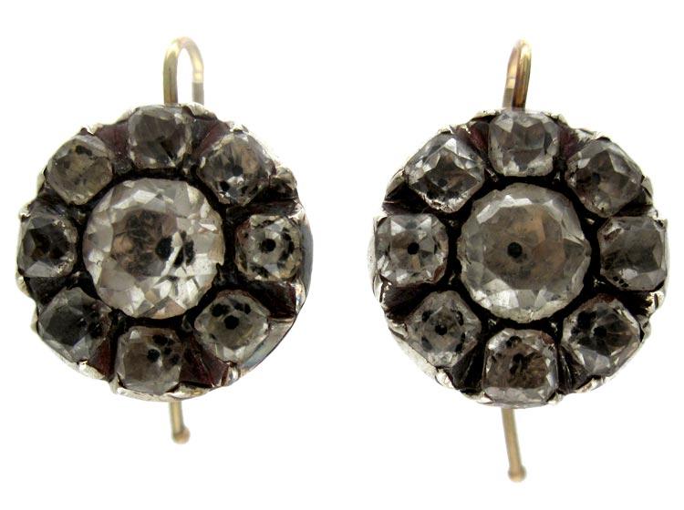 Georgian Paste Silver Earrings