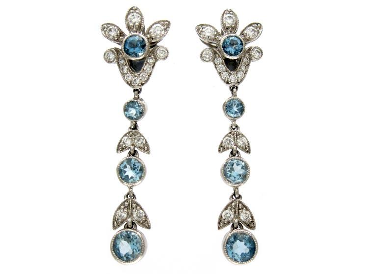 Tiffany & Co. Aquamarine Diamond Earrings