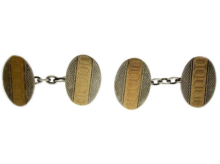 Silver & Gold Plated Cufflinks