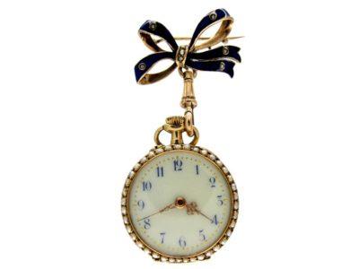 Blue Enamel Edwardian Dress Watch