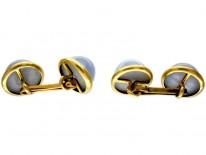 Chalcedony 18ct Gold Cufflinks