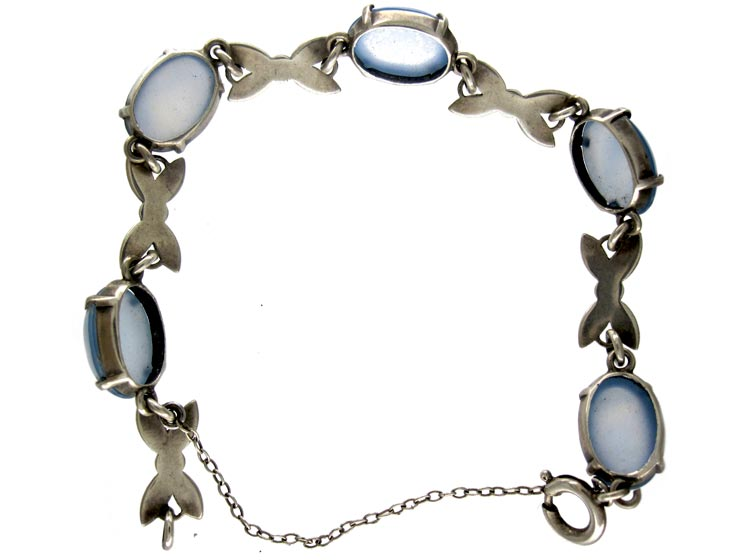 Marcasite Siver Chalcedony Bracelet