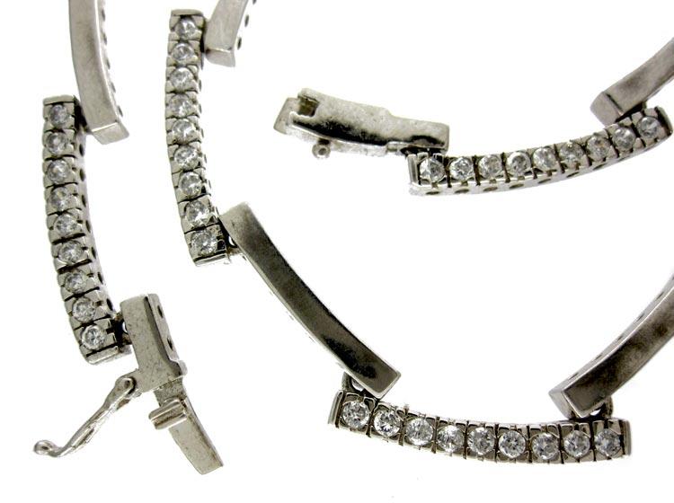 Silver Paste Art Deco Necklace