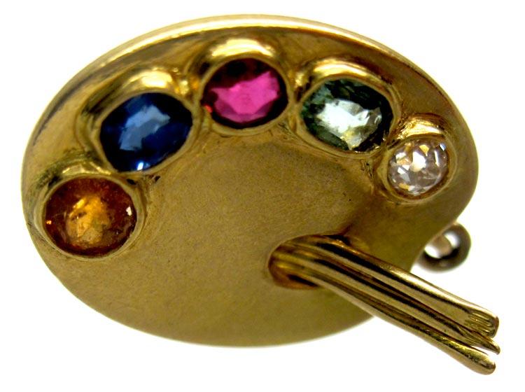 Artist's Pallette Gold Charm