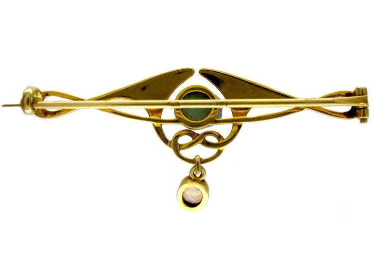 Murlle Bennett 15ct Opal Set Brooch