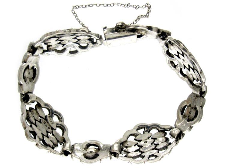Marcasite & Silver Art Deco Bracelet