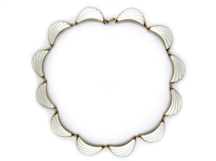 David Andersen Silver Gilt Swag Necklace