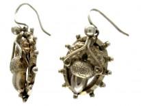 Acorn Silver Victorian Earrings