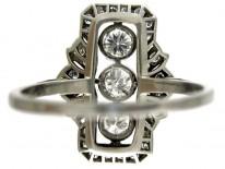 Art Deco Diamond Plaque Ring