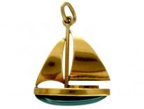 Yacht 15ct Gold Charm