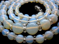 Graduated Opal Bead Necklace
