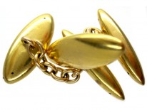 18ct Gold Plain Cuflinks
