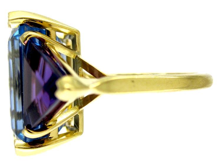 Blue Topaz & Amethyst Ring