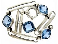 Silver & Blue Zircon Bracelet