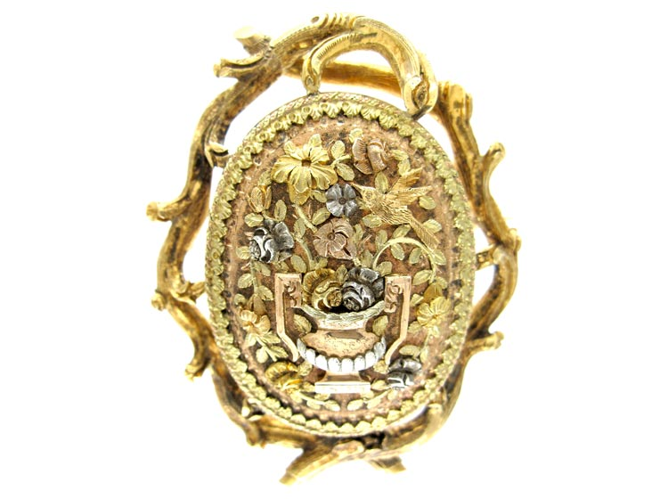 French 4 Colour Gold Brooch