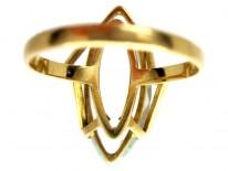 Aquamarine 18ct Gold Ring