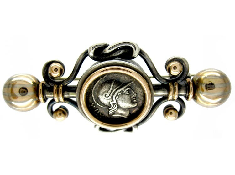 Victorian Classical Silver Brooch