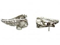 Diamond Art Deco Clip Earrings