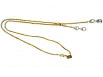 Retro Aquamarine 18ct Gold Necklace