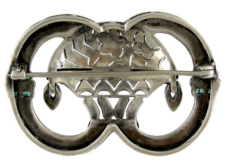 Art Deco Paste Brooch