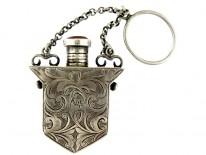 Scottish Silver & Agate Scent Bottle