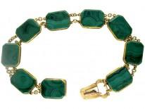 Regency 18ct Gold & Malachite Bracelet