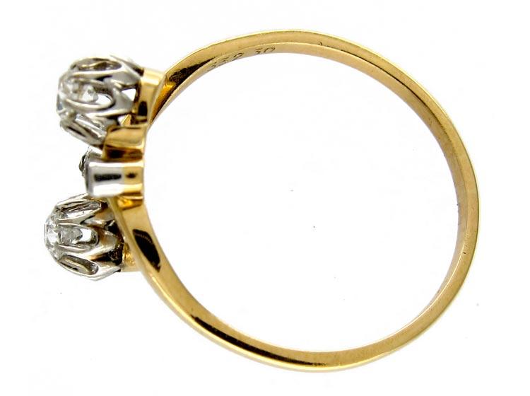 Diamond Art Nouveau Ring