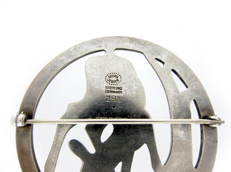 Georg Jensen Large Silver Fawn Brooch