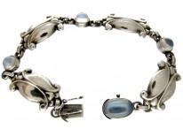 Georg Jensen Silver Moonstone Bracelet