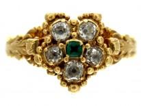 Regency Diamond & Emerald Cluster Ring