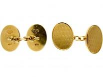 18ct Gold Pair of Goldsmiths & Siversmiths Cufflinks