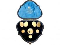 Gold Cufflinks & Studs Set in Original Case